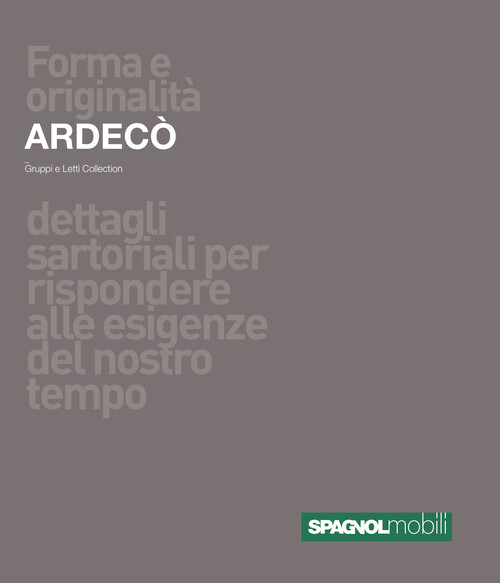 Catalogo SpagnolMobiliArdecoGruppiLetto
